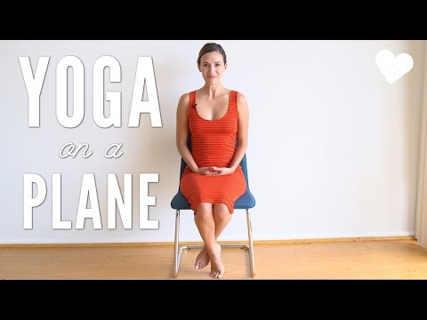 Yoga on an Airplane Travel Yoga