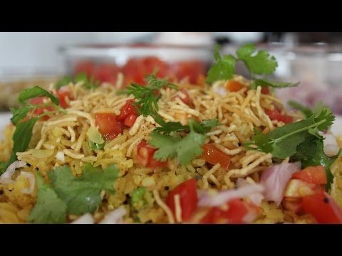 Breakfast MASALA POHA (flattened rice)