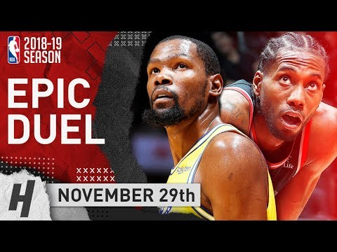 BEST of Kevin Durant vs Kawhi Leonard Duel in Toronto! EPIC Highlights (2018.11.29) - KD with 51 Pts