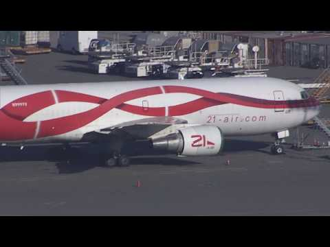 21air Boeing 767F  Cargo Freighter Waiting to Fly