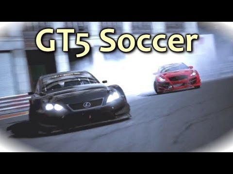 Gran Turismo 5 Playing Football (Soccer) With A Fiat Ft. Fun Game Within A Game