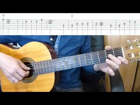 The Yellow Rose of Texas - Easy Guitar melody tutorial + TAB Guitar lesson