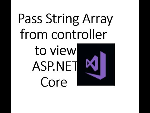 How to pass string array from controller to View in ASP NET Core