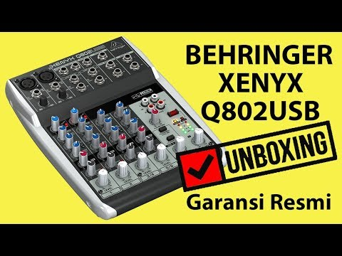 UNBOXING - USB Soundcard Mixer Behringer XENYX Q802USB Garansi Resmi