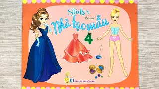 STICKER NHÀ TẠO MẪU Q4 - Dán hình trang phục công chúa - Sticker doll toys for kids (Chim Xinh)