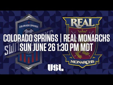 WATCH LIVE: Colorado Springs Switchbacks FC vs Real Monarchs SLC 6-26-16