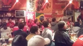 力浦和. J-League cup final Kashima 2-1 Reds. Fan reaction