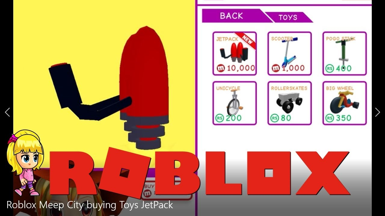 Roblox Meep City Gameplay Buying Toys Jet Pack Chloe Tuber -