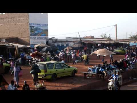Ride through Bamako, Mali (Market)