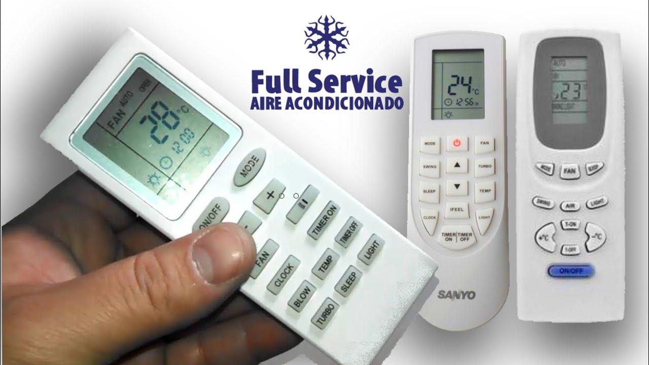 Funciones control remoto split parte 1 mode timer for Simbolos aire acondicionado daikin