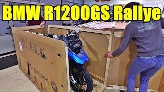 BMW R1200GS Rallye 2017 достаем из коробки новый мотоцикл.