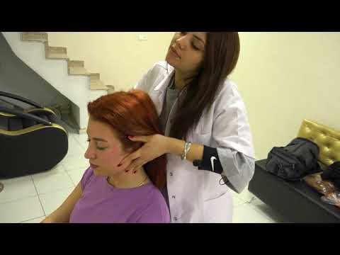 ASMR Chair Massage in Beauty Center Lady Defne Awesome Energy