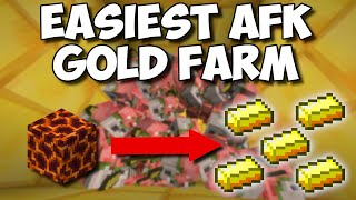 (1.16+) EASIEST Way To Get GOLD In Minecraft! - Automatic AFK Gold Farm