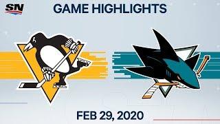 NHL Highlights | Penguins Vs Sharks – Feb. 29, 2020