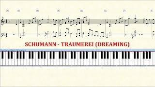 Piano Tutorial Sheet Schumann Traumerei (dreaming) - Hd