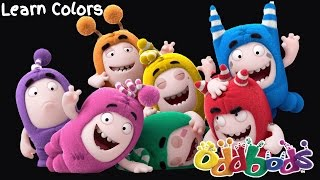 learn colors animation with funny dancing oddbods cartoon training for kids coloring pages video