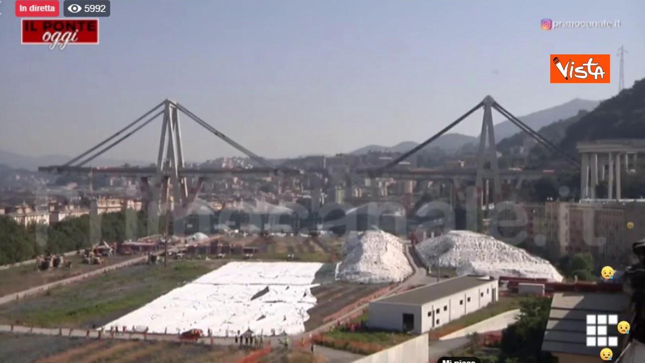 Ponte Morandi, l'esplosione delle pile 10 e 11