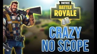 22 health + CRAZY NO-SCOPE | Fortnite Battle Clip | (First No scope Ever) HARD!!