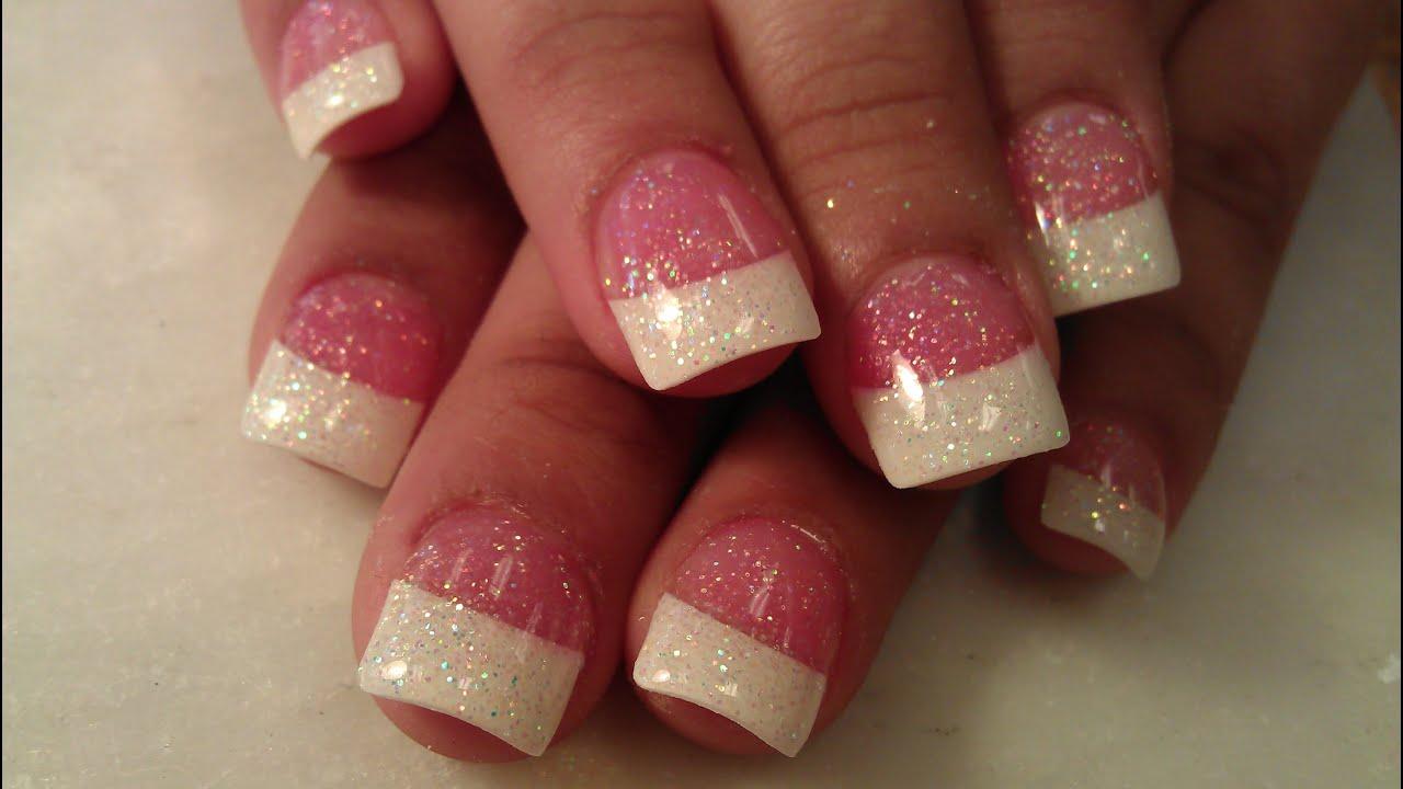 sparkle glitter french tip