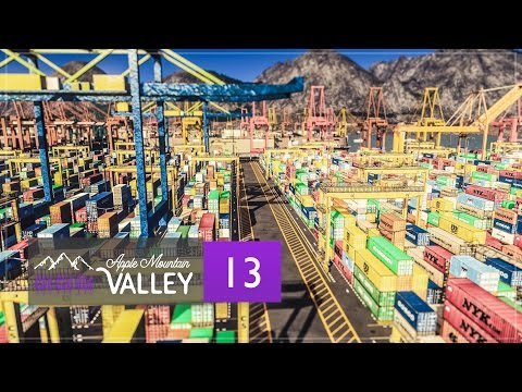 Cities Skylines Apple Mountain Valley - Part 13 - Cargo Harbor