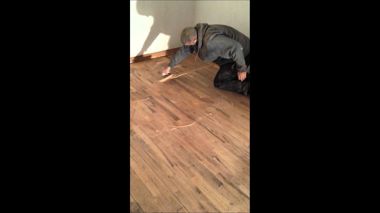 Wood Filler Hardwood Floors Refinish Youtube