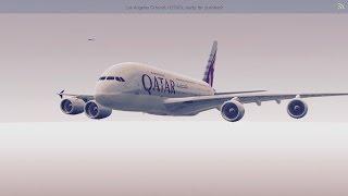 [HD] Infinite Flight Airbus A380. Multiplayer. ATC. Qatar takeoff at KLAX