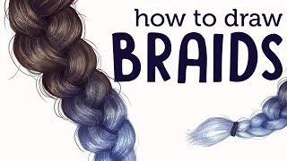 HOW TO DRAW AND PAINT BRAIDS! | Hair Tutorial | Jenna Drawing