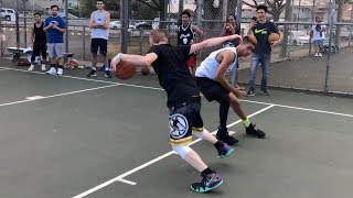 Professor Almost Loses 1v1... Nearly Breaks Ankle Video