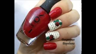 Цветочный дизайн ногтей с пластиной CJS-02 и штампом The Big Bling by ClearJellyStamper