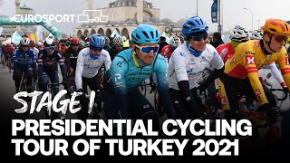 Presidential Cycling Tour of Turkey2021 - Stage 1 Highlights | Cycling | Eurosport
