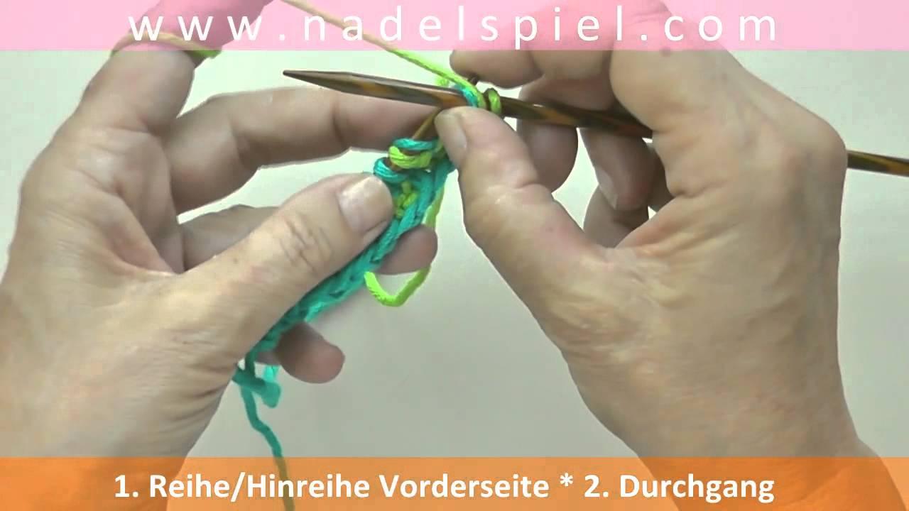 Stricken Lernen Mit Elizzza 28 Patentmuster Zweifarbig