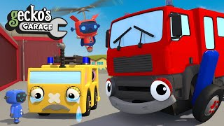5 Clumsy Fire Trucks|Gecko's Garage|Fun Cartoon For Kids|Learning Videos For Toddlers|Nursery Rhymes