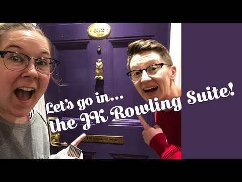 The JK Rowling Suite At The Balmoral In Edinburgh!