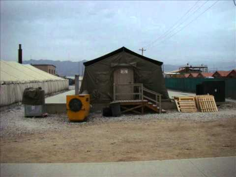 Bagram AirField, Afghanistan. Camp Dragon DFAC, before and after.