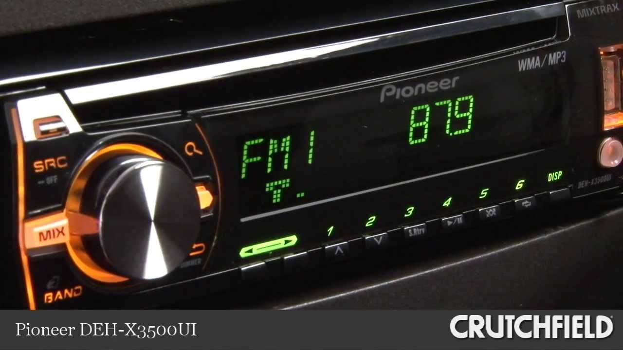 Pioneer DEHX3500UI CD Receiver Display and Controls Demo | Crutchfield Video  YouTube