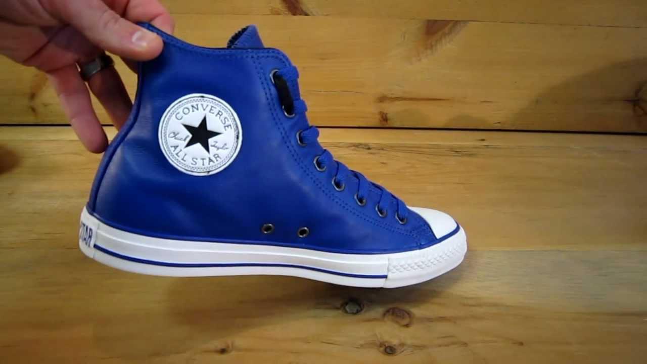 e406e8455d32 Converse All Stars Chuck Taylor High Leather Royal - YouTube