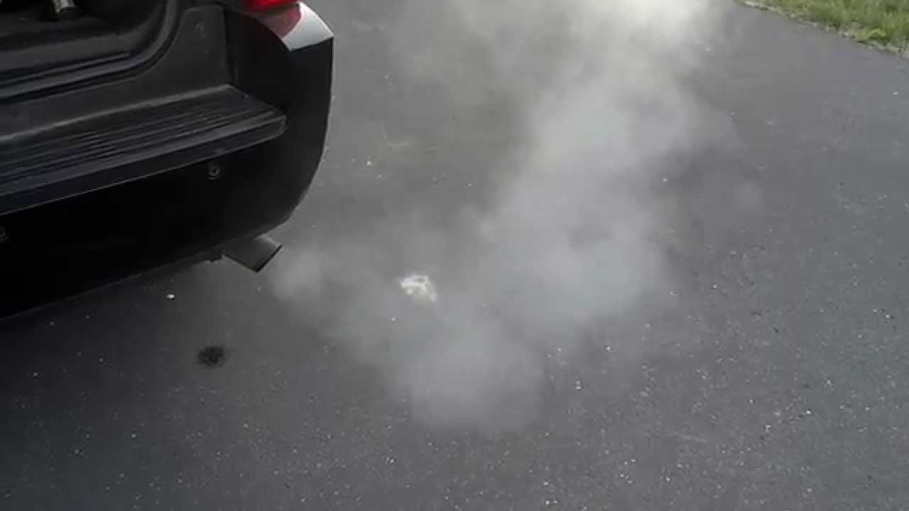 Exhaust Coming Out Of A Car ~ White smoke coming out of my tahoe exhaust youtube