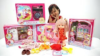 Mainan Peralatan Boneka Mell Chan Jenica 💖 Kulkas + Mesin Cuci + Tempat Tidur + Vending Machine