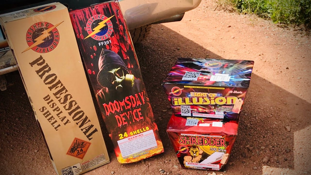 Flashing Fireworks Canister Shells & 500g Cakes!