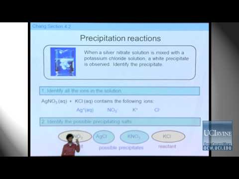 Preparation for General Chemistry 1P. Lecture  17. Precipitation Reactions.