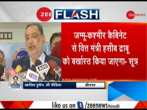 J&K finance minister Haseeb Ahmed Drabu dropped from cabinet