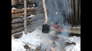 Building a Bushcraft Basecamp - Episode 3 - Grilling Ribs