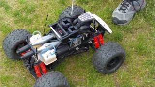 Kyosho Giga Crusher Dual .21 nitro engines 2016 running session by HiJinx RC