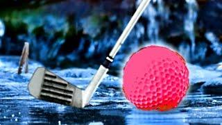 CRAZY EXTREME ICE GOLFING! (Golf it)