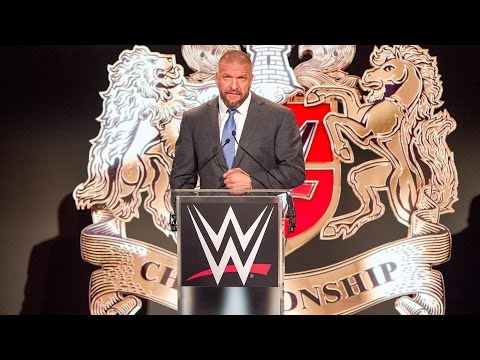 Triple H announces the WWE United Kingdom Championship Tournament