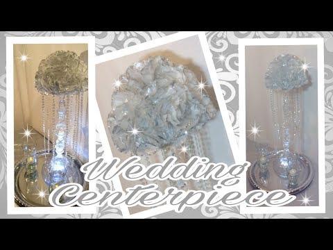 DIY Silver Glitter Coffee Filter Centerpiece / Dollar Tree GLAM Floral Arrangement / Simply Easy #5