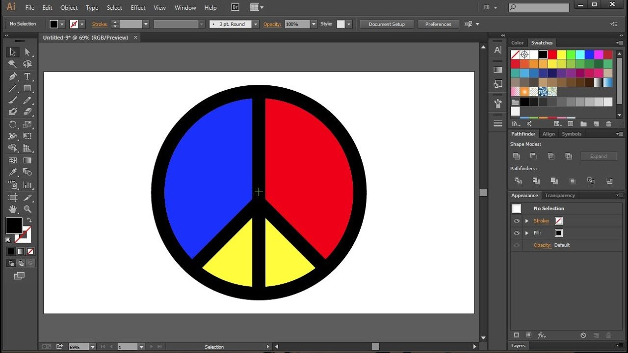 How to draw a peace symbol in adobe illustrator youtube how to draw a peace symbol in adobe illustrator biocorpaavc Images