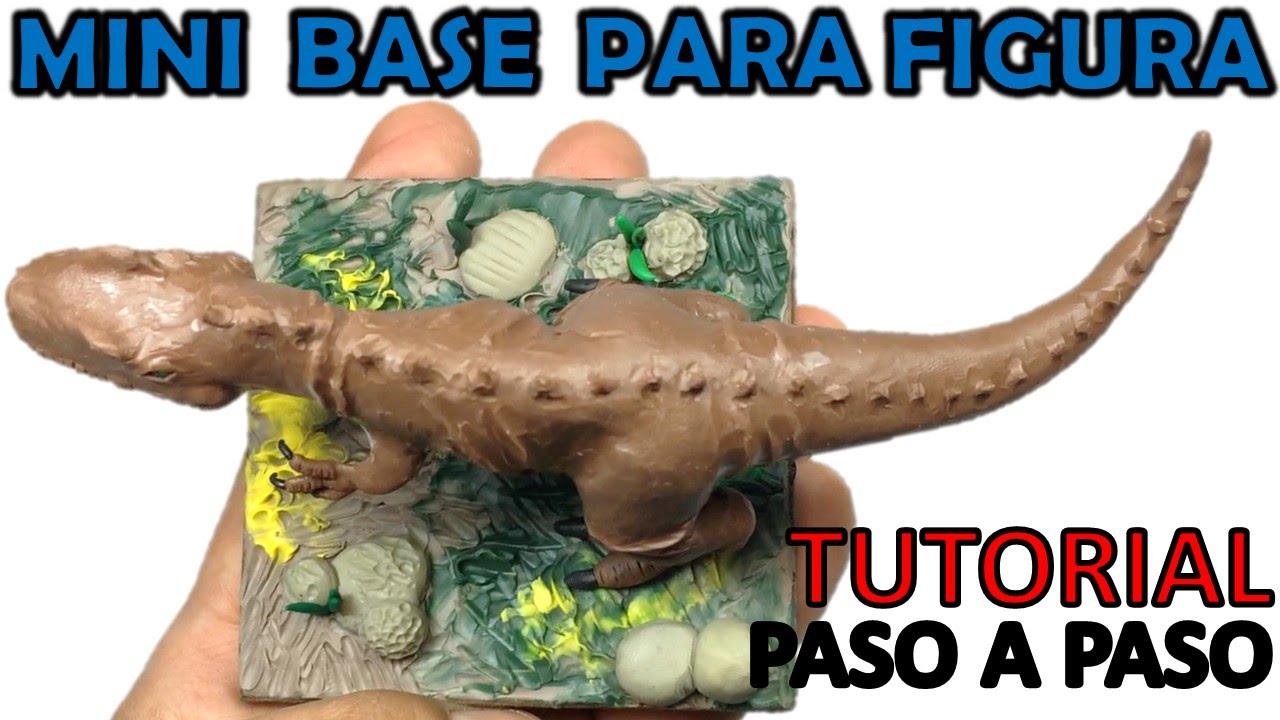 Como hacer una base facil para dinosaurio de plastilina for Hacer piscina de obra paso a paso