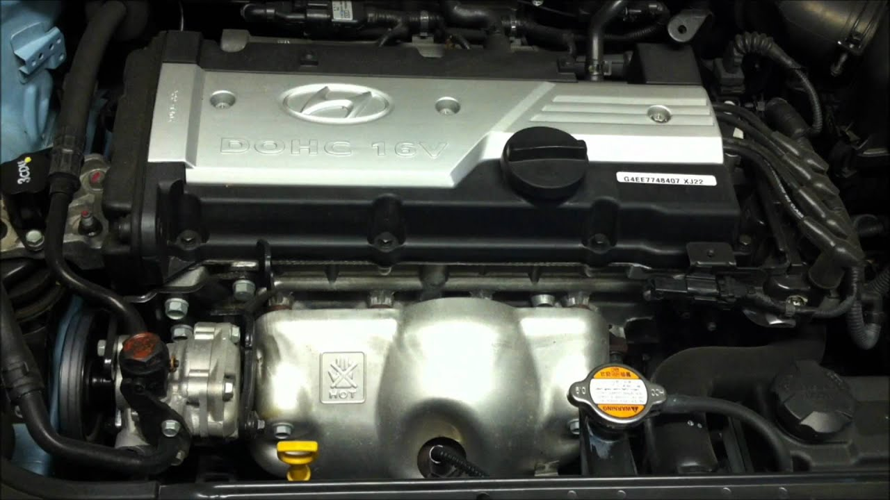 Hyundai Getz 1 6l 1599cc Inline 4 Multi Point F Inj Dual Overhead Cam Motor Youtube