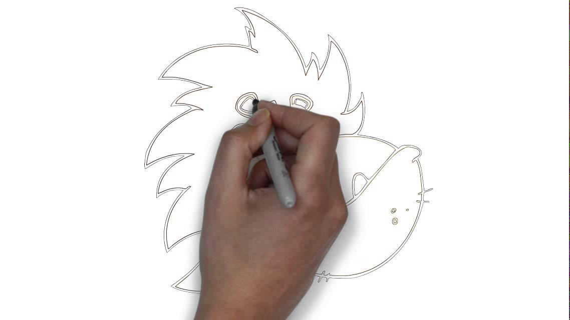 Comment dessiner une t te de lion youtube - Tete de lion a dessiner ...